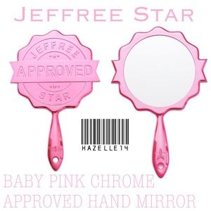 JSC BABY PINK CHROME APPROVED HAND MIRROR